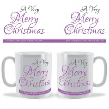 A Very Merry Christmas Personalised Celebration Mug
