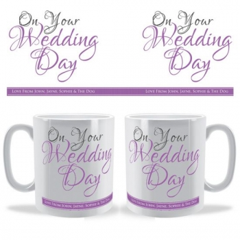 On Your Wedding Day Personalised Celebration Mug