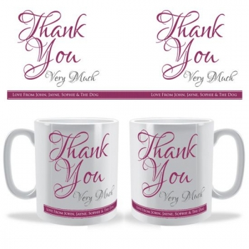 Thank You Very Much Personalised Celebration Mug