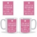 Flower Poster Personalised Mug