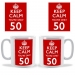 Personalised Keep Calm You're only Age Mug