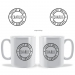 Personalised Badge Tea Coffee Mug