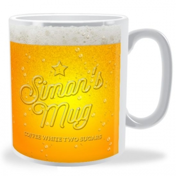 Personalised Beer Glass Mug