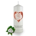 Personalised Rose Heart Candle