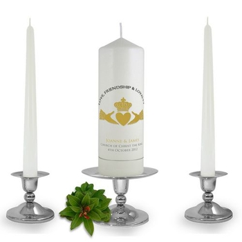 Personalised Claddagh Unity Candle