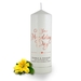 Personalised On Your Wedding Day Candle