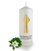 Personalised Celtic Cross Baptism Candle