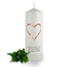 Personalised Love Heart Anniversary Candle