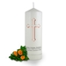 Personalised Holy Cross Christening Candle