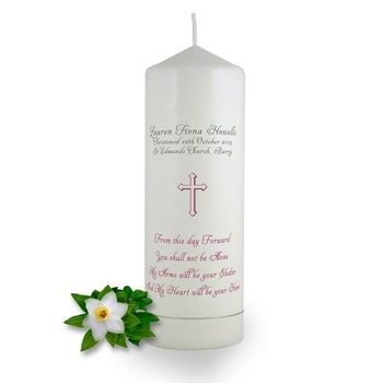 Personalised From this day Forward Christening Candle