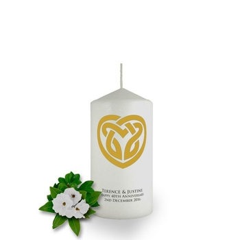 Personalised Celtic Heart Candle Favour