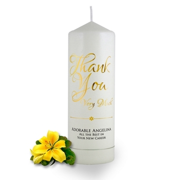 Personalised Thank You Very Much Candle