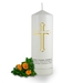 Personalised Holy Cross Memorial Candle