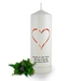 Personalised Love Heart Memorial Candle
