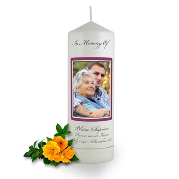 Personalised Rounded Photo Frame Memorial Candle