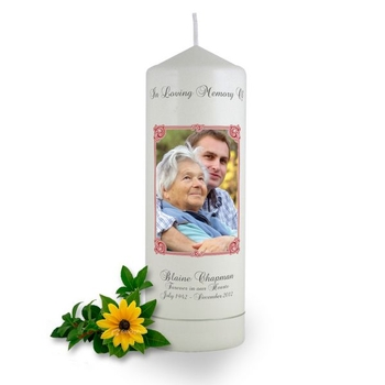 Personalised Art Nouveau Photo Frame Memorial Candle
