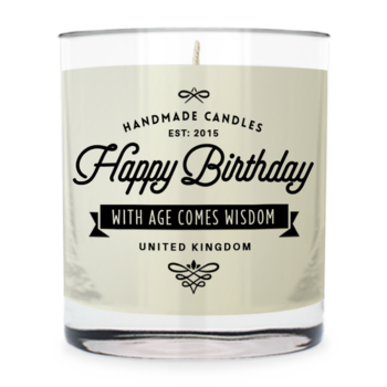 Happy Birthday ~ Scented Candle