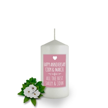 Personalised Poster Candle Favour