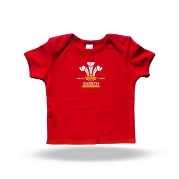 Personalised 3 Feathers Baby T shirt