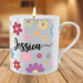 Personalised Flower Shower Scented Candle Mug