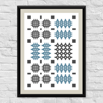 Two Tone Welsh Pattern Print