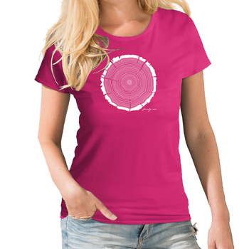 Tree Rings Womens Birthday T shirt Personalised