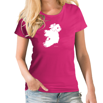 Ireland Personalised Pin Womens Map T shirt