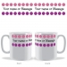Personalised Polka Dot Message Mug