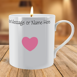 Personalised Small Heart Scented Candle Mug
