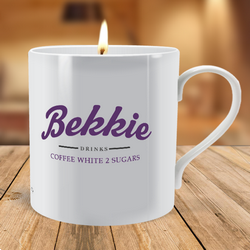 Personalised Vintage Sign Scented Candle Mug