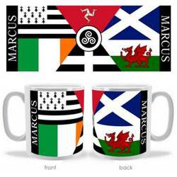 Personalised Celtic Nations Flag Mug