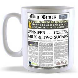 Personalised Newspaper Headline Mug