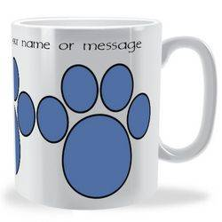 Personalised 3 Paw Prints Mug