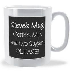 Personalised Blackboard Mug