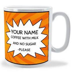 Personalised Comic Shout Bubble Mug