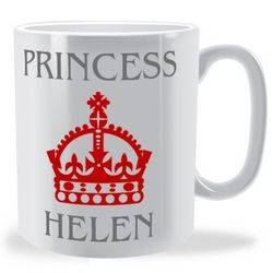 Personalised Crown and Title Mug