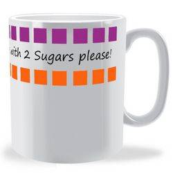 Personalised Cube Message Mug