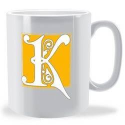 Personalised Decorative Initial Mug