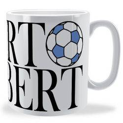 Personalised Football Name Text Wrap Mug