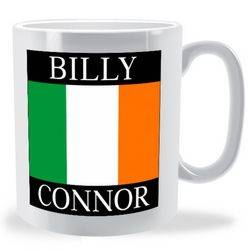 Personalised Firstname Surname Irish Flag Mug