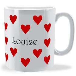 Personalised Just Hearts Mug