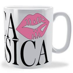 Personalised Lips Name Text Wrap Mug