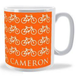 Personalised Lots of Bikes Mug
