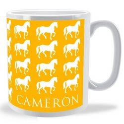 Personalised Lots of Horses Mug