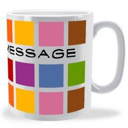 Personalised Multi Colour Cube Name Mug