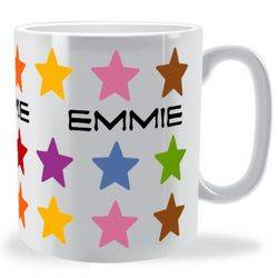 Personalised Multi Colour Stars Mug