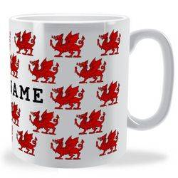 Personalised Red Dragon Pattern Mug