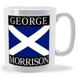 Personalised St Andrew's Cross Flag Mug