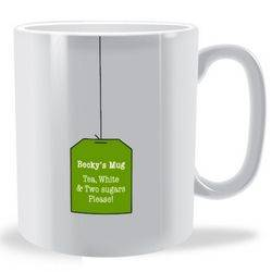 Personalised Tea BagMug