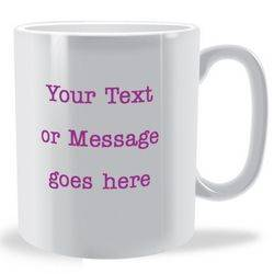 Personalised Front and Back Text Mug